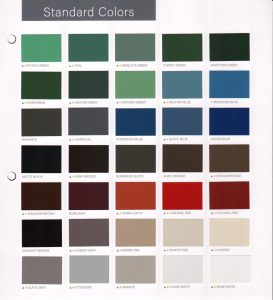 Color Chart | ADVANCED Architectural Sheet Metal & Supply